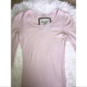 Abercrombie & Fitch pink thermal long sleeve